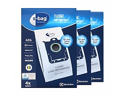 3 PAKET Electrolux S-bag Long Performance dammsugarpåsar Original